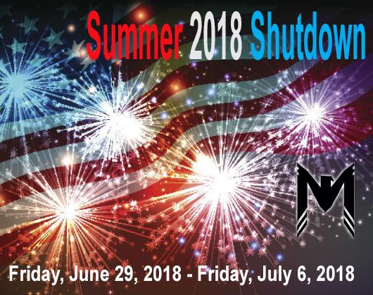 Summer 2018 shutdown announced